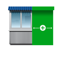 Изменение площади и объёма балкона