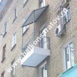 Ремонт балкона под ключ – г. Саратов, ул. 2-я Садовая дом 118. Капитальный ремонт бетонной плиты, решётчатые ограждения балкона, крыша над балконом.
