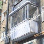 Комплексный ремонт балкона . Ремонт балконной плиты, ограждение с выносом, навес над балконом, остекление раздвижными рамами купе.