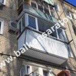 Балкон под ключ. Замена балконной плиты, вынос ограждения балкона, монтаж крыши над балконом, остекление рамами ПВХ.