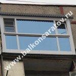 Остекление балкона в Саратове, ул.Степана Разина. Французский балкон