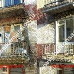 Ремонт кирпичной кладки стены, перемычки над входом на балкон, замена балконных блоков в общежитии